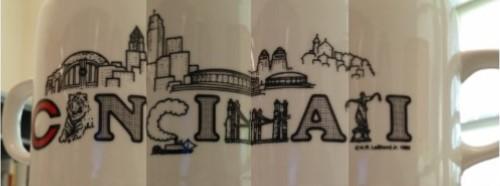 360 degree photo of a Cincinnati coffee mug.